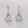 2.70CT Round Cut Diamond Earrings F SI 18K White Gold - IDJ014952
