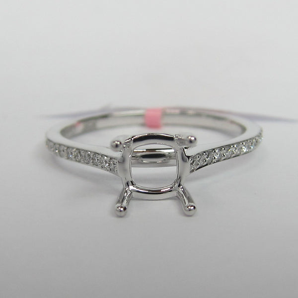 0.12ct 18K White Gold JEFF COOPER Lumiere Collection Diamond Setting -IDJ015172