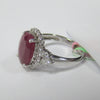 6.30 CT Ruby and Diamond Ring in 18K White Gold -IDJ015211