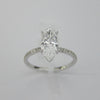 1.35CT Marquise Cut Solitaire Diamond Ring 18K White Gold -ASM13096-E-135