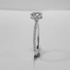 1.31CT Oval Cut Solitaire Diamond Ring 18K White Gold -ASM13101-E-131