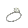 1.32CT Round Cut Solitaire Diamond Ring 18K White Gold -ASM13098-E-132