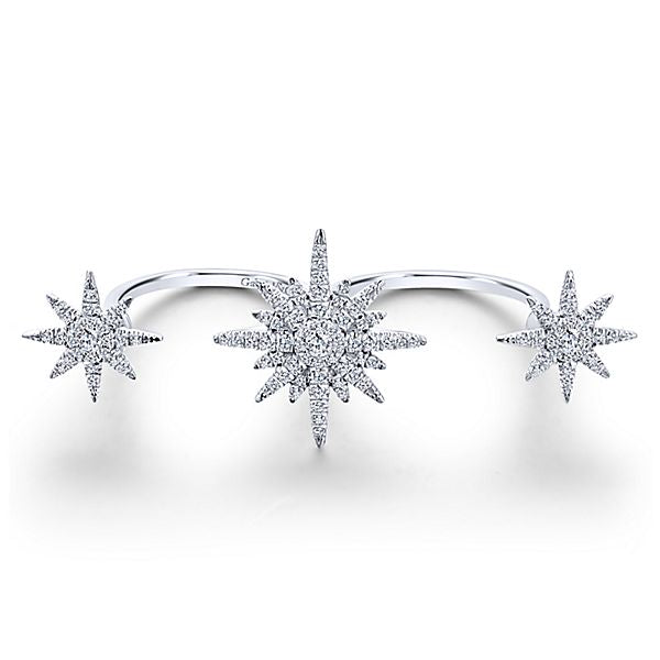 Gabriel & Co Diamond Star Burst Double Ring LR50945K45JJ