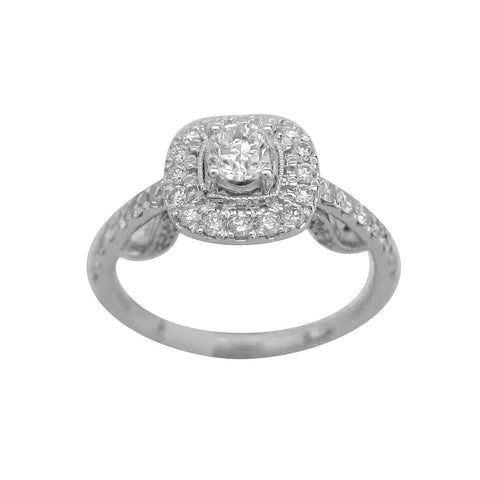 1.00CT G SI Round Cut Diamond Ring in 14K White Gold - SKD2161591