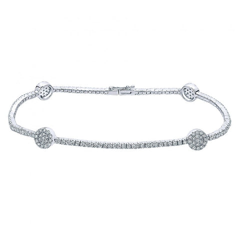 Gabriel & Co Diamond Tennis Bracelet Set in 14K White Gold /TB3899W45JJ