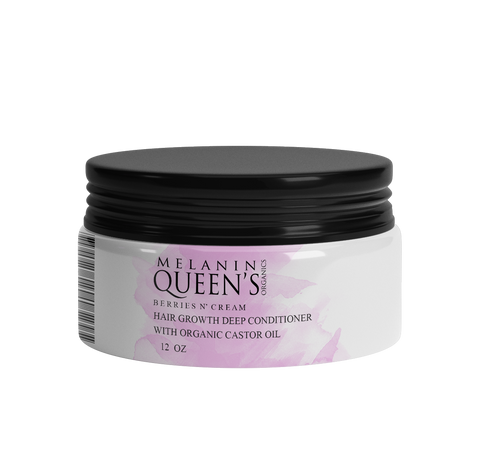 Berries N' Cream Hair Growth Deep Conditioner with Castor Oil - Melanin Queen's Organics