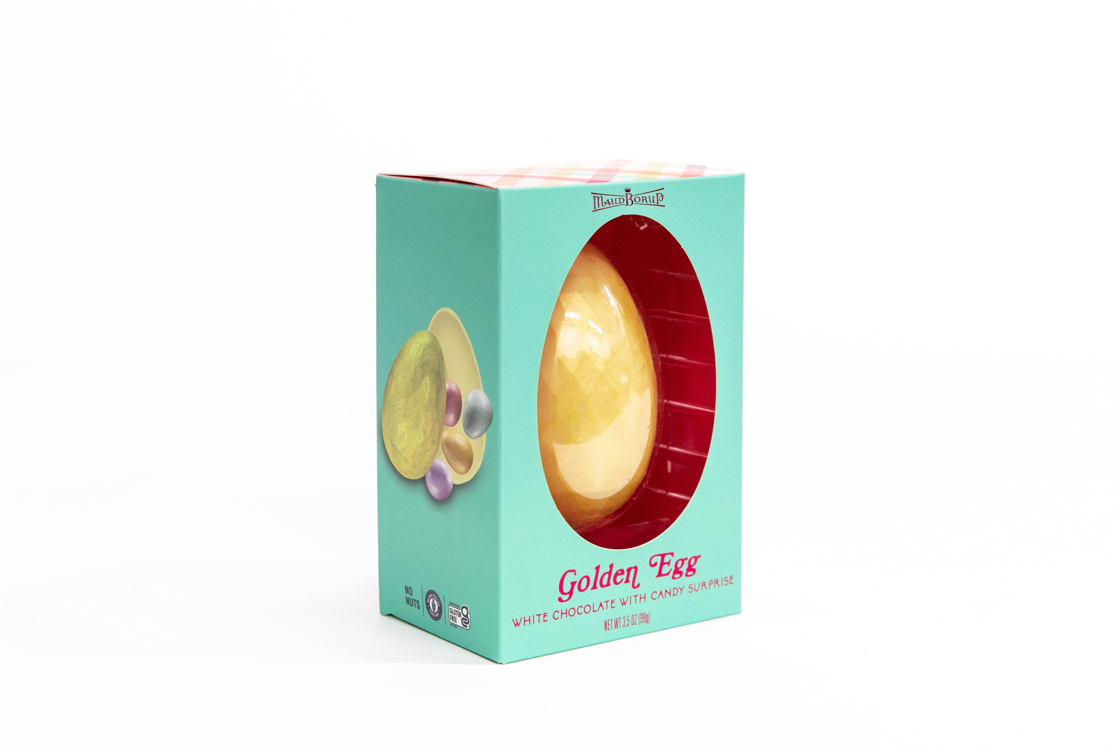 Golden Easter Egg White Chocolate with Candy Surprise 6 pack