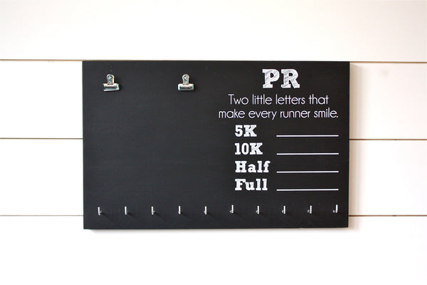 PR Race Bib and Medal Holder - 5K, 10K, Half, & Full - York Sign Shop - 3