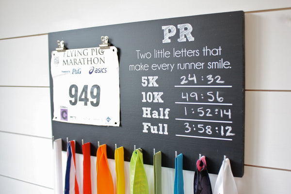 PR Race Bib and Medal Holder - 5K, 10K, Half, & Full - York Sign Shop - 1