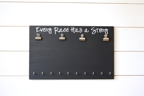Running Race Bib and Medal Holder - Every Race Has a Story - York Sign Shop - 3