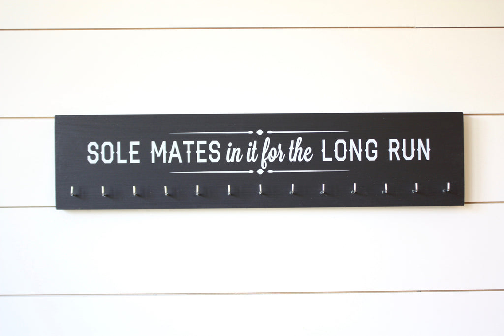 Running Medal Holder Soul mates in it for the long run - Large - York Sign Shop - 1