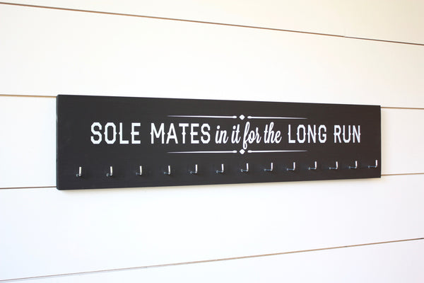 Running Medal Holder Soul mates in it for the long run - Large - York Sign Shop - 2