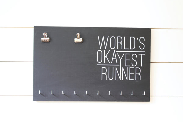 Race Bib & Medal Holder - World's Okayest Runner - York Sign Shop - 2