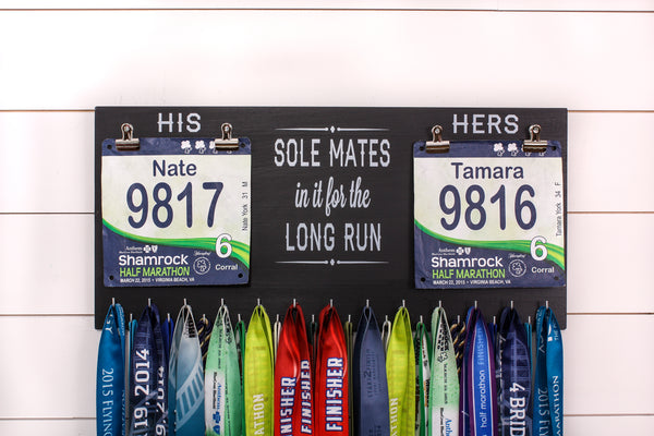 Race Bib and Medal Holder - Soul Mates - Extra Large Size