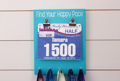 Race Bib and Medal Holder - Find Your Happy Pace