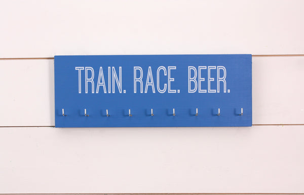 Marathon Medal Holder - Train. Race. Beer. - Medium