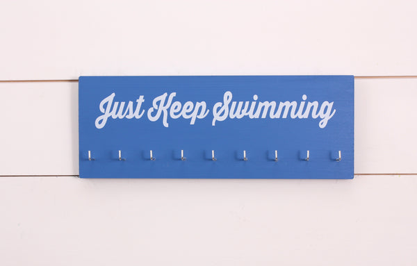Swim Medal Holder- Just Keep Swimming - Medium