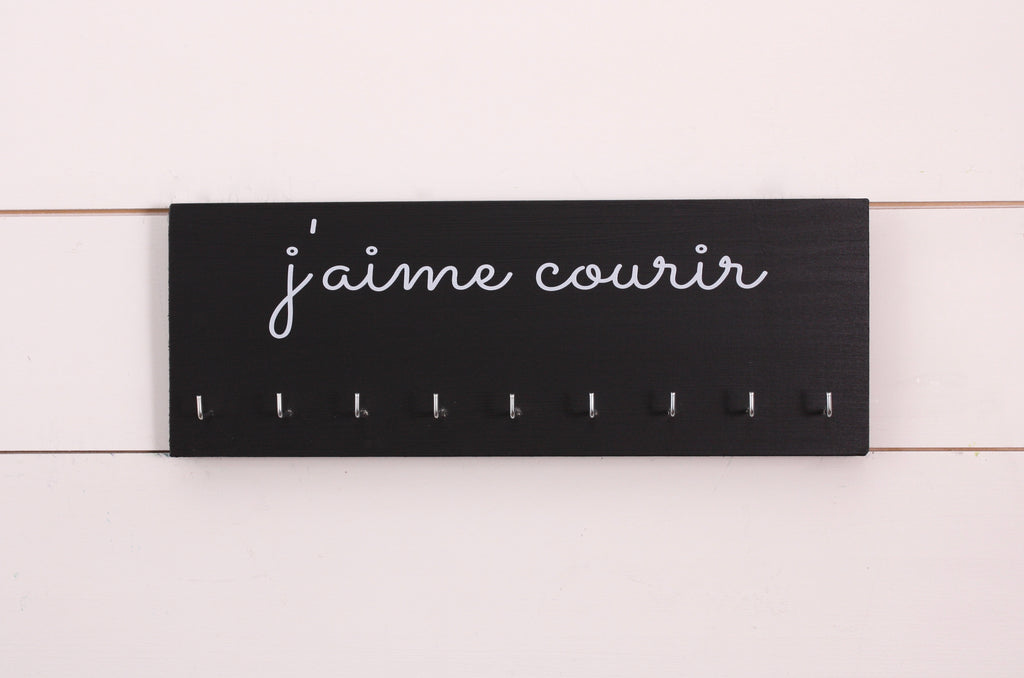 Running Medal Holder - French - j'aime courir  (I Love to Run) - Medium