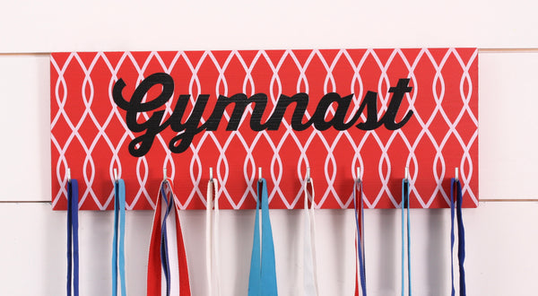 Gymnast Medal Holder / Display - Gymnastics with Pattern - Medium