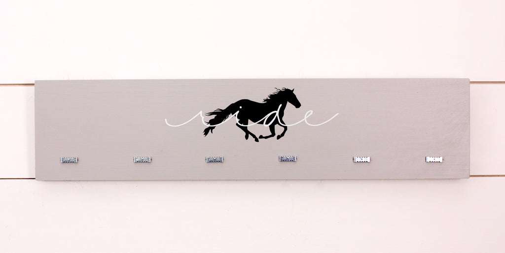 Equestrian Ribbon Holder - Ride with Horse Silhouette - Horseback Riding -  Horse Show