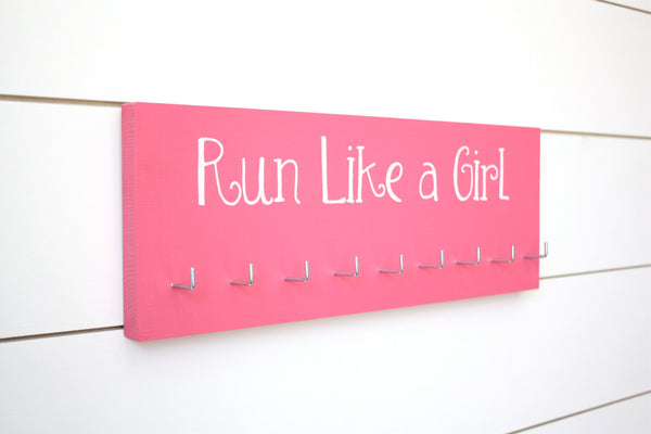 Running Medal Holder - Run Like a Girl - Medium - York Sign Shop - 2