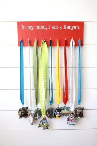 Running Medal Holder - In my mind, I am a Kenyan - Medium - York Sign Shop - 2