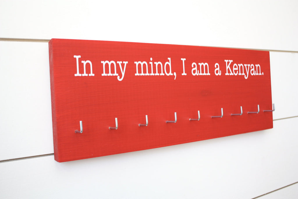 Running Medal Holder - In my mind, I am a Kenyan - Medium - York Sign Shop - 1