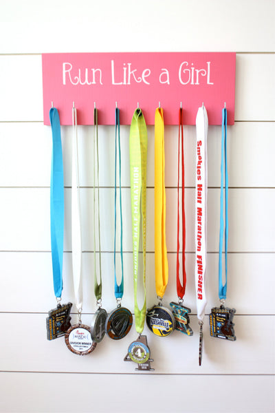 Running Medal Holder - Run Like a Girl - Medium - York Sign Shop - 3