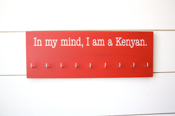 Running Medal Holder - In my mind, I am a Kenyan - Medium - York Sign Shop - 3