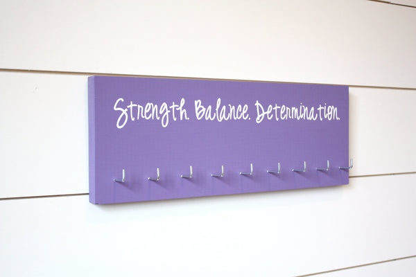 Gymnast Medal Holder / Display - Strength. Balance. Determination. - Medium - York Sign Shop - 2