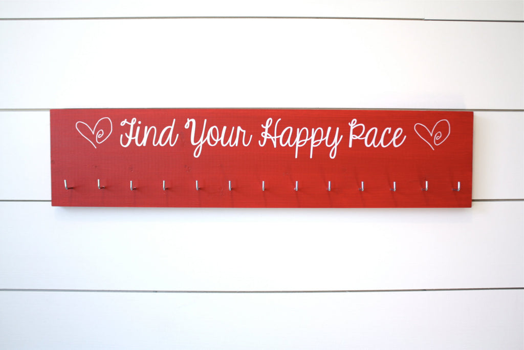 Running Medal Holder - Find Your Happy Pace - Large - York Sign Shop - 1