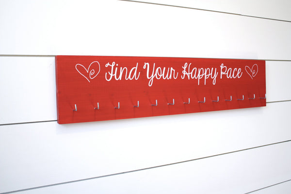 Running Medal Holder - Find Your Happy Pace - Large - York Sign Shop - 2