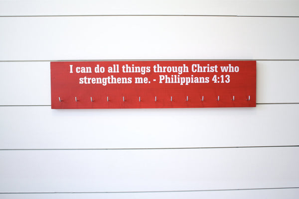 Medal Holder - Christian Bible Verse Philippians 4:13 - Large - York Sign Shop - 2