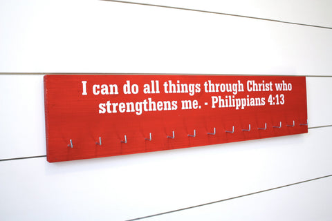 Medal Holder - Christian Bible Verse Philippians 4:13 - Large - York Sign Shop - 1