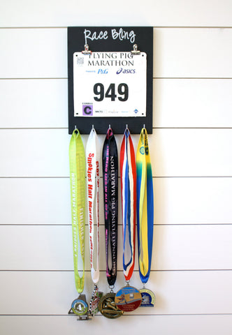 Running Race Bib and Medal Display -  Race Bling - York Sign Shop - 1