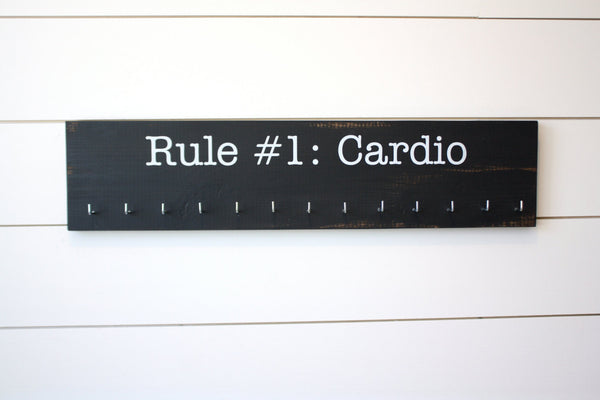 Medal Holder inspired by Zombie Land - Rule #1: Cardio - Large - York Sign Shop - 3