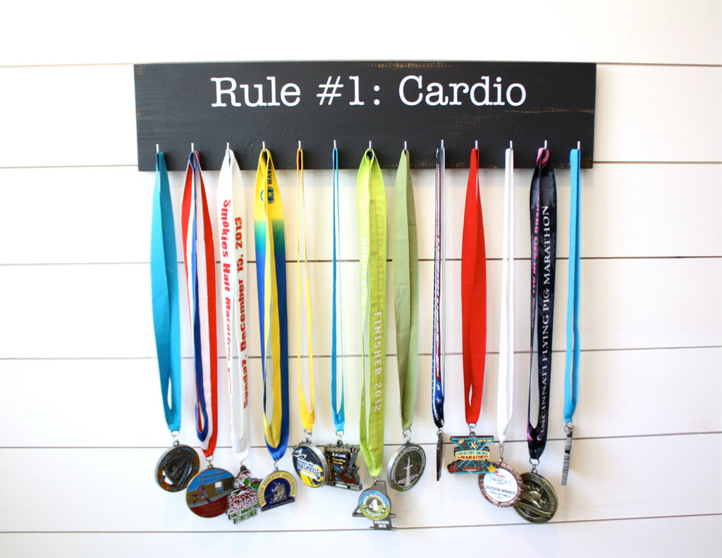 Medal Holder inspired by Zombie Land - Rule #1: Cardio - Large - York Sign Shop - 1