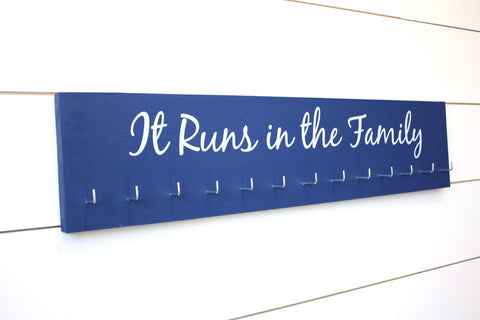 Medal Holder - It Runs in the Family - Large - York Sign Shop - 1