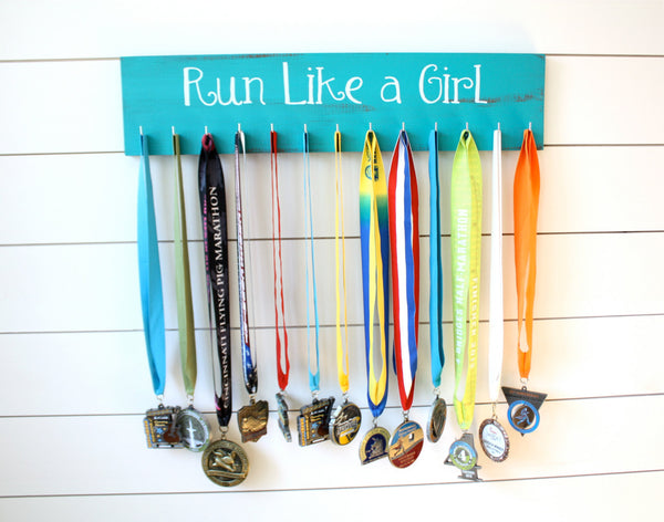Running Medal Holder - Run Like a Girl - Large - York Sign Shop - 3