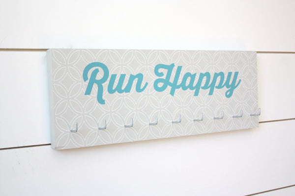 Running Medal Holder - Run Happy - Medium - York Sign Shop - 2