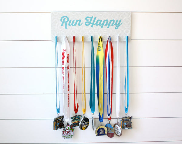 Running Medal Holder - Run Happy - Medium - York Sign Shop - 3