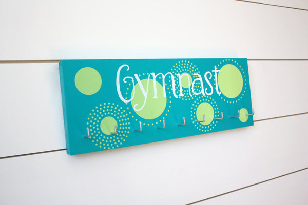 Gymnast Medal Holder with Polka Dots - Medium - York Sign Shop - 2