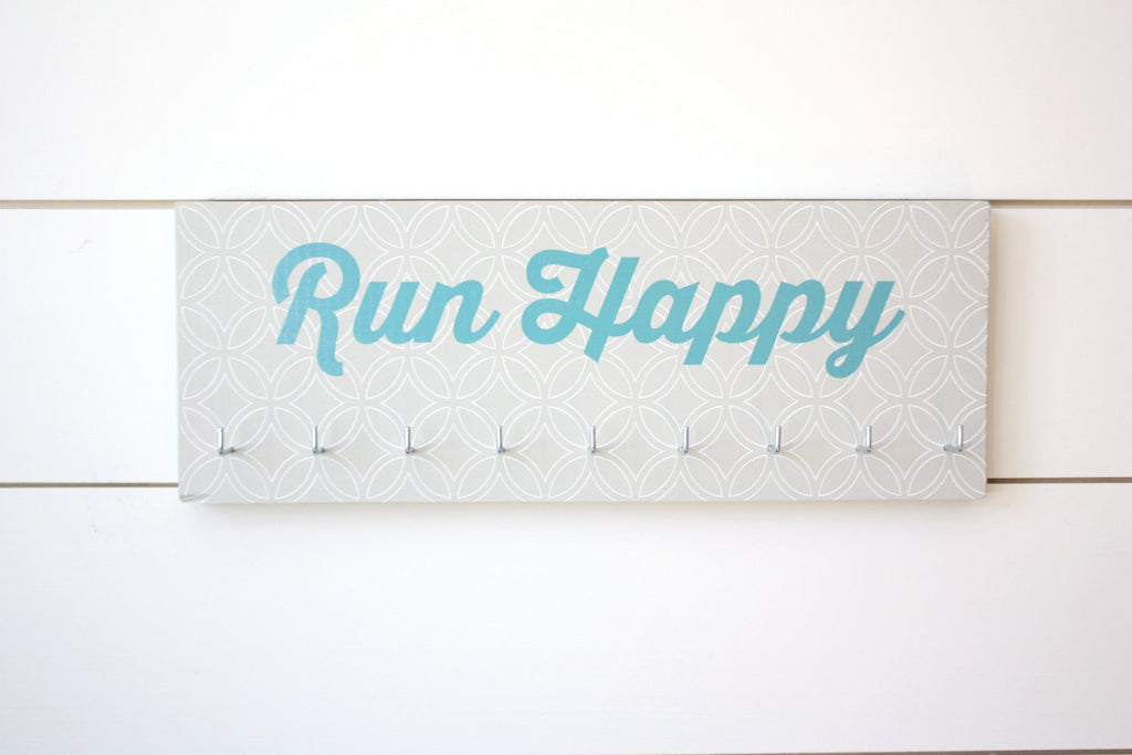 Running Medal Holder - Run Happy - Medium - York Sign Shop - 1