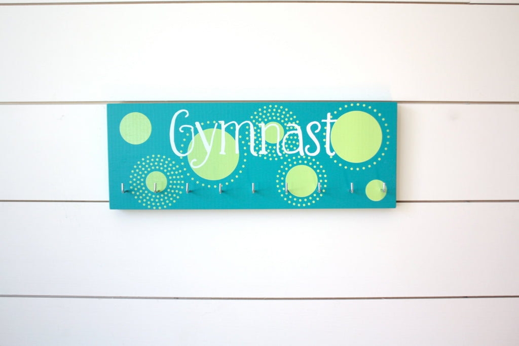 Gymnast Medal Holder with Polka Dots - Medium - York Sign Shop - 1