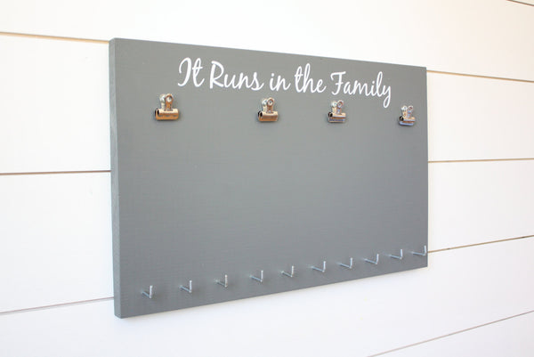 Running Race Bib and Medal Holder - It Runs in the Family - York Sign Shop - 3