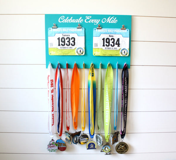 Running Race Bib and Medal Holder - Celebrate Every Mile - York Sign Shop - 3