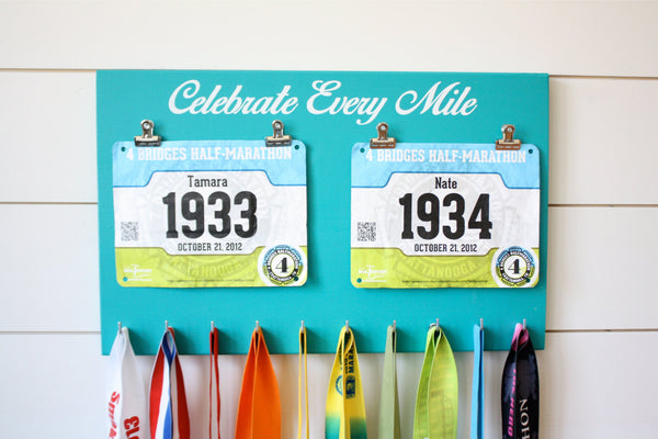 Running Race Bib and Medal Holder - Celebrate Every Mile - York Sign Shop - 2