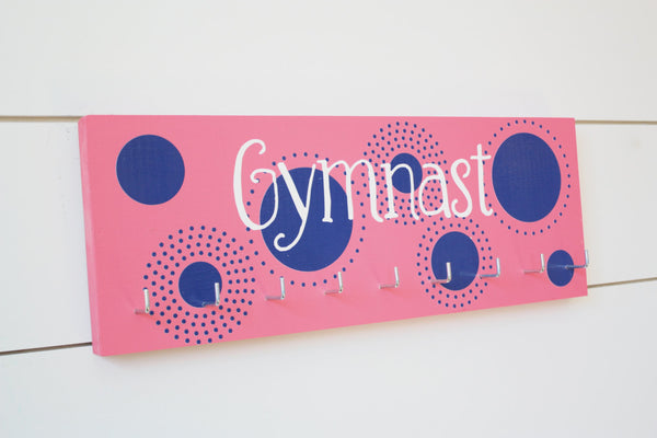 Gymnast Medal Holder with Polka Dots - Medium - York Sign Shop - 3