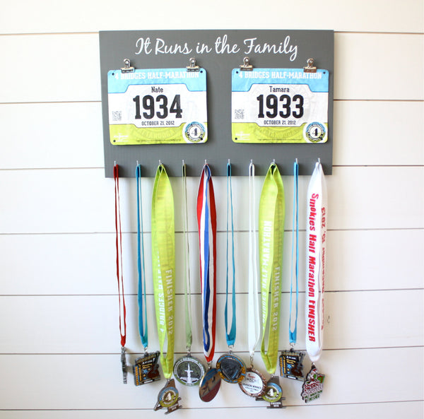 Running Race Bib and Medal Holder - It Runs in the Family - York Sign Shop - 2