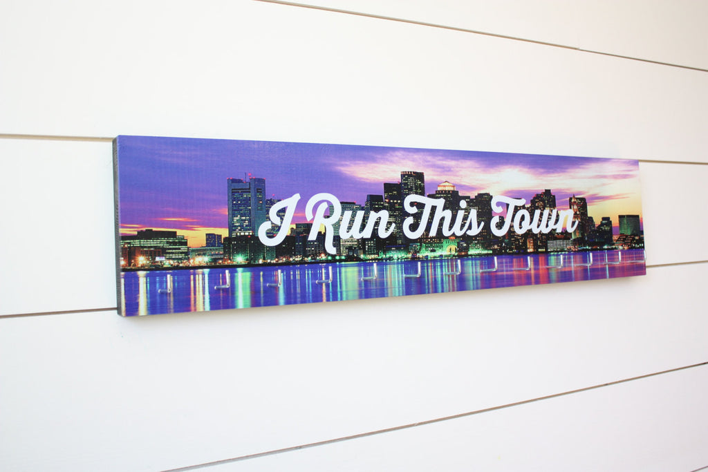 Medal Holder - I Run This Town - Large (Full Color) City / Skyline - York Sign Shop - 1
